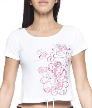 camiseta corta bordada 3722 yoelcollection