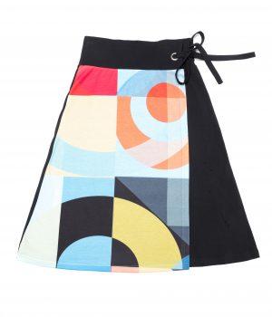 falda  mujer abstracta